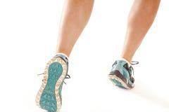 Back of running legs Stock Photo