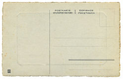 The back of Russian vintage postcard. 1900's stock image