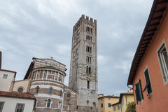 The back of San Frediano church. Lucca. Italy. Royalty Free Stock Photography