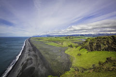 Back sand beach, Iceland Stock Images