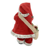 Back of Santa Claus. Santa Claus doll from the back. Isolated on a white background stock photo