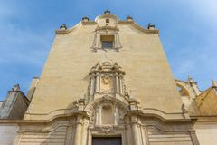 Back of the Santa Maria church in Xativa Stock Images