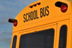 Back of School Bus Close Up Royalty Free Stock Photos