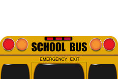 Back of school bus isolated Royalty Free Stock Photo