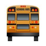 Back of school bus mockup, realistic style royalty free illustration