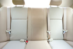 Back seat of car stock photography