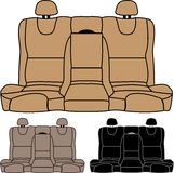 Back Seat vector isolated Royalty Free Stock Photo