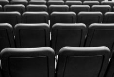 Back of seats in black and white pattern Stock Photography