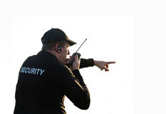 Back of a security guard royalty free stock photo