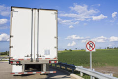 Back of Semi-Truck Royalty Free Stock Image