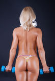 Back of  sexy athlete Royalty Free Stock Images