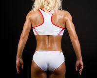 Back of sexy athlete Stock Images