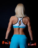 Back of sexy blond athlete Stock Images