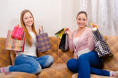 Back from shopping Royalty Free Stock Image