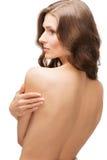 Back shot portrait of beautiful female model Royalty Free Stock Image