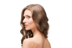 Back shot portrait of beautiful woman Royalty Free Stock Photography