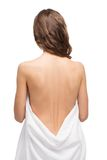 Back shot of slim young woman Royalty Free Stock Image