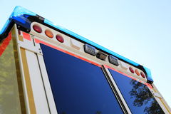 Back side of a Ambulance emergency car. The Back of a Ambulance emergency car Stock Photos