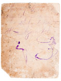 Old reverse side of the photo Royalty Free Stock Image