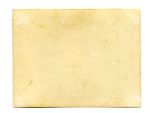 Back side of antique photo Royalty Free Stock Image