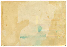Back side of an antique post card Royalty Free Stock Photo