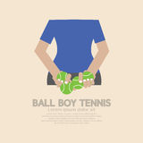 Back Side Of Ball Boy Tennis Royalty Free Stock Photo