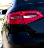 Back side of black car. Stock Photo