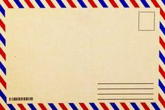 Back side blank vintage postcard. A Back side blank vintage postcard royalty free stock image