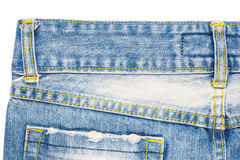 Back side of blue jeans Stock Image