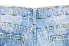 Back side of blue jeans Royalty Free Stock Photography