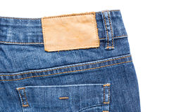 Back side of blue jeans Royalty Free Stock Image