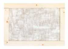 Back side of canvas stretched over wooden frame. Back side of artistic canvas stretched over wooden frame isolated on white background stock photography
