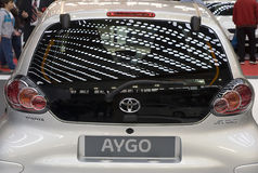 Back side of car Toyota-Aygo Royalty Free Stock Photo