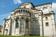 Back side of Cathedral of Lucca Stock Photos