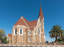 Back side of the Christuskirche in Windhoek Royalty Free Stock Photography