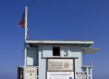 Back side close up detail of a Life Guard Tower in Malibu Royalty Free Stock Photography
