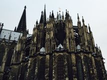 Back side of Cologne cathedral Royalty Free Stock Images