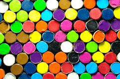 Back side of colored crayon Royalty Free Stock Image