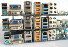 Сomputer main boards. Stock Photo