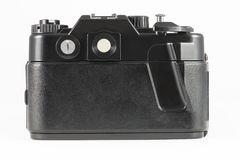 Back side of film single-lens reflex camera (SLR) Stock Image