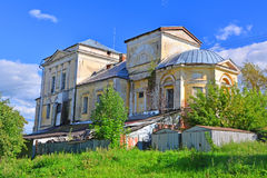 Back side of former Church of the Assumption of the Mother of God of 18th century in the centre of Torzhok city, Russia Royalty Free Stock Image