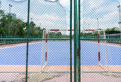 The back side of futsal ground Stock Photography