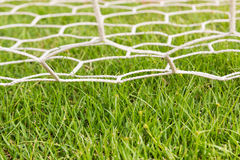 Back side the Goal football Royalty Free Stock Photography