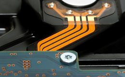 Back side of hard disk drive Royalty Free Stock Photography