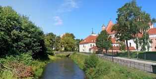 Back side of historical public church of St. Anne in Vilnius, Li Stock Images