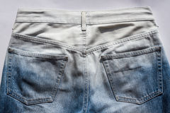 Back side of jean Royalty Free Stock Image