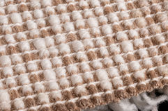 Back side of knotted carpet. Back side of knotted natural woolen carpet, detail Stock Photos