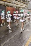 Back side of majorettes marching at Carnival parade, Stuttgart Stock Image