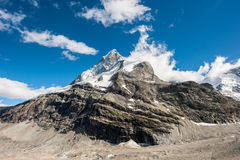 Back side of Matterhorn Stock Photography