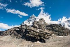 Back side of Matterhorn. Mountain peak, view from Schoenbiel, Zermatt, Switzerland Stock Photography